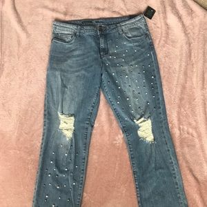 NWT Kut from the Kloth Pearl Straight Leg Jeans